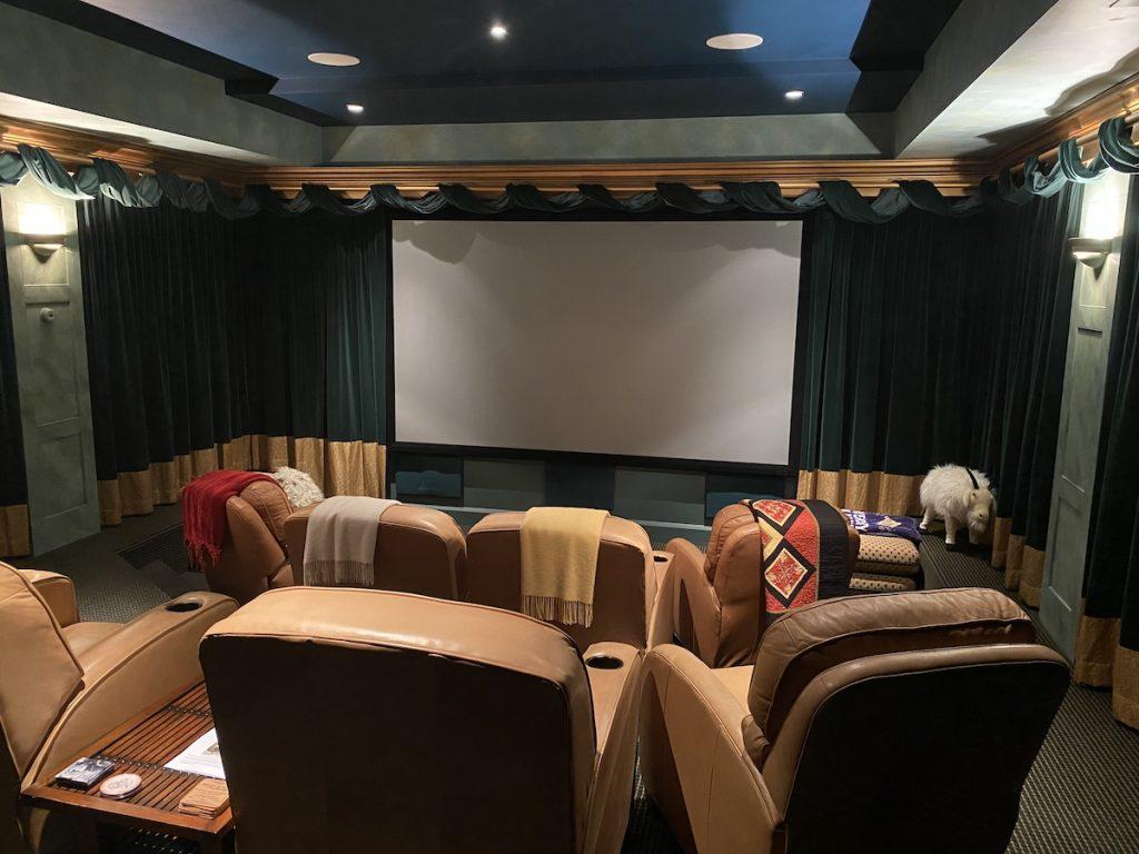 Maine custom home theater