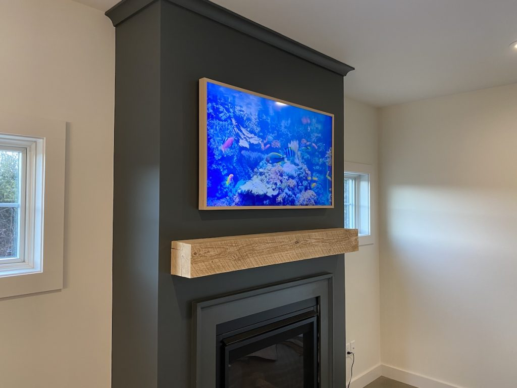custom tv wall mounting